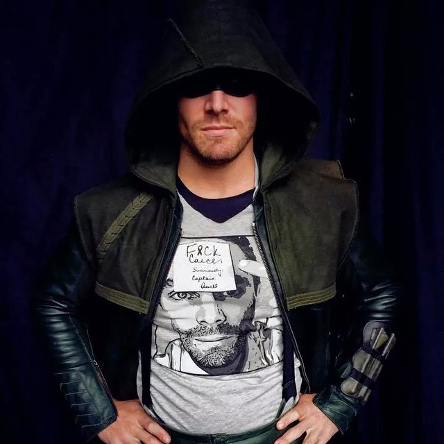 @amelladventures has his Tshirt, come on DC Fans get yours here: https://represent.com/Stephen it's a great cause' #fuckcancer #arrow #cw
