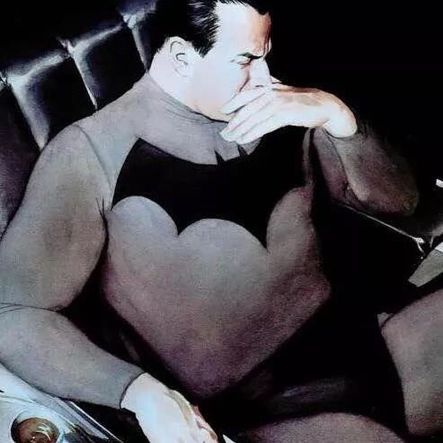 The Dark Knight / Bruce Wayne has a moment to gather his thoughts. #batmanart #darkknight #brucewayne #reflection #leadership #crimefighter #batman75