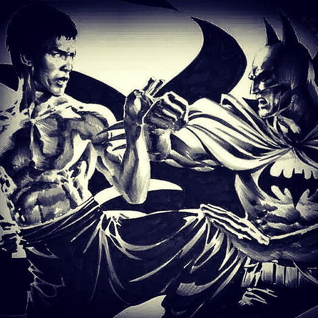 Who would win this epic encounter? #BruceLee or #batman
